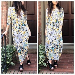 Dresses & Skirts - Spring floral loose fit side pockets bubble dress